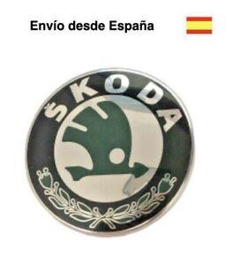 Logo 80 mm emblema Skoda Fabia Octavia Felicia Rapid Roomster insignia chapa