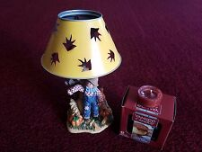 Home Interior Scarecrow Thanksgiving Tea Light Candle Holder - Vintage Guc!