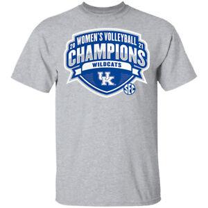 Kentucky Wildcats 2021 SEC Women's Volleyball Season Champions T-Shirt S-5XL