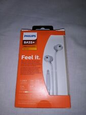 Philips SHE4305WT BASS+ In Ear Wired Headphones with Mic WHITE NIB SEALED
