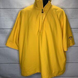 Callaway Golf Sport Brushed Microfiber Short Sleeve 1/4 Zip Pullover Jacket Sz M