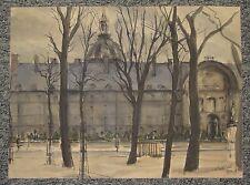 Paris Les Invalides 1948 aquarelle de Christian Frain