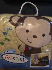 "*NIP* Riegel 3-Piece Nursery Crib Set- ""Tune Time"" Collection"