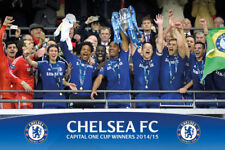 Chelsea Blues FC CELEBRATION Capital One Cup Champions 2015 Commemorative POSTER