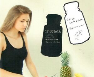 Wallies SALT & PEPPER SHAKERS wall stickers decal dry erase & chalkboard kitchen