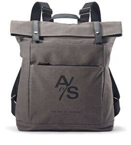 Large Travel Backpack by ART of SHAVING Authentic canvas gray big NEW