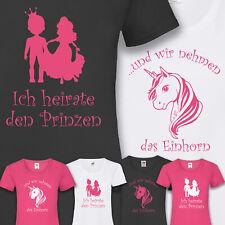 T-shirt jga novia casarse celebrar unicornio príncipe soltera xs-5xl