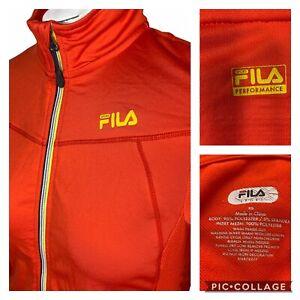 FILA Women's Performance Jacket Inside Pockets Bright Orange Size XS