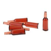 1:12 Miniature 6 PCS Vin Boisson Bière Bouteilles De Bière Dollhouse