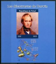 Chad 2018 MNH Charles Darwin Discoveries Galapagos 1v IMPF M/S Science Stamps