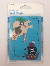 Pirate Themed Single Toggle Designer Wall Plate Light Switch Blue Multi Color