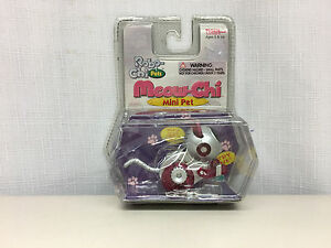 ROBO-CHI PETS MEOW-CHI MINI PET RED/PURPLE WIND UP TOY #59740 (NEW IN BOX)