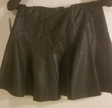 Free People Faux Leather Black Mini Skirt Black MSRP $78 SZ 2 NWT Midi Boho