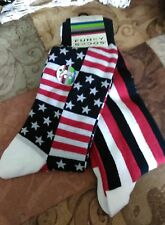 2 Pairs of Mens Funky Socks Red White blue & Stripes Planet Sox Sock Size10-13