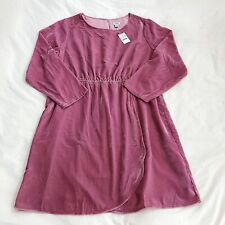 New J Crew Factory Velvet Tulip Hem Long Sleeve Dress Guava Berry Pink Size 20