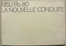 NSU Ro 80 Car LF Sales Brochure 1968 FRENCH TEXT #VF 2135 330 9911
