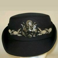 Vtg USAF US Air Force Officers Service Dress Blues Hat Cap