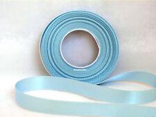 6mm X 20m Eleganza Ivory Double Side Satin Ribbon Wedding 5060222452761 Light Blue