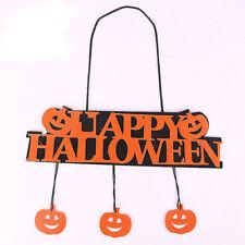 HAPPY HALLOWEEN Pumpkin Hanging Strip Halloween Party Decor Window Door Ornament