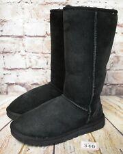 Girls UGG Australia Classic Tall Black Sheepskin Boots Size UK 5.5 EUR 37 - 5215