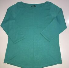 Jade green boat neck 3/4 sleeve jumper by M&Co size 12 petite fit BNWOT
