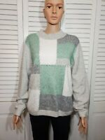 Alfred Dunner women's multi color block sweater size M