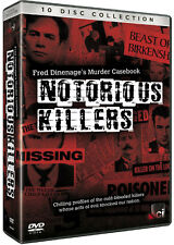 Notorious Killers - Fred Dinenage's Murder Casebook - 10 DVD SET - BRAND NEW