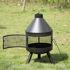 Outdoor Patio Fireplace Backyard Firepit Chiminea Wood Burning Heater Stove R9M6