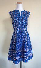 JCrew 000 Vintage Scarf Silk Dress NWT $188 WOMEN 2XS Blue 3XS C9329
