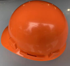 Msa Hard Hat Smooth Dome Slotted 4 Point Ratchet Suspension Cap Helmet