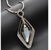 Damen Halskette mit Anhänger Silber lange Kette Schmuck Geschenk Weihnachten
