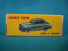 "DINKY TOYS SIMCA 9 "" ARONDE "" ÉDITION ATLAS 24U"
