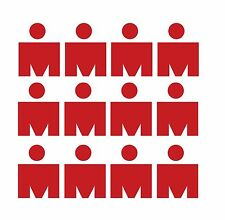 """set of 12 small IRON MAN DECALS/STICKERS Red 1 x 1.7"""" 140.6 Runner Swim Bike"""