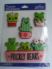 Jolee's Boutique PRICKLY BEARS Themed Scrapbooking Stickers 4 Pieces Planner