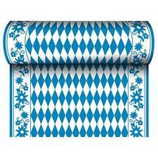 Tischläufer stoffähnlich Airlaid 24 m x 40 cm Bayrisch blau Oktoberfest Deko