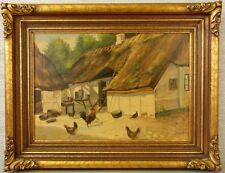 "LV. larsen ""pollos en la granja"" prunkrahmen Jugendstil"