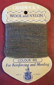 Vintage 1970s Chadwick's Wool and Nylon for Reinforcing and Mending. Colour 219