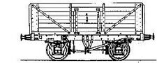 Parkside PC73 RCH (1923) 7-Plank 12 Ton Coal Wagon (Fixed Ends).(00)