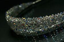 Silver Handmade Bridal Tiara made with Swarovski Crystal Clear Beads