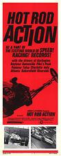 HOT ROD ACTION/AUTO RACING original 1969 movie poster DAYTONA/POMONA/BONNEVILLE