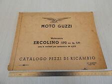 MANUALE ORIGINALE CATALOGO PARTI DI RICAMBIO 1959 MOTO GUZZI ERCOLINO 192 cc