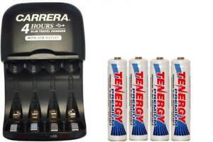 Carrera Charger with USB Plug & 4 x AAA Tenergy NiMH 1000 mAh Batteries