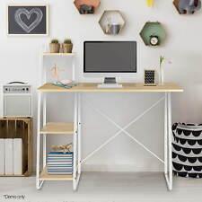Home Office Computer Desk 4 Tier Storage Shelf Student Study Table Work Station