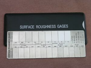 Surface Roughness Comparator Gage (Brand New)
