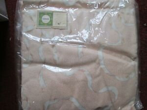"""pink retro curtains lined & weighted. 74""""x 54"""" drop track fit. pink ribbon de"""