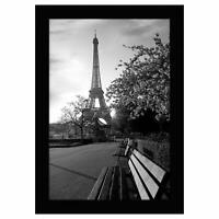 Americanflat 8x12 Black Picture Frame - Shatter-Resistant Glass