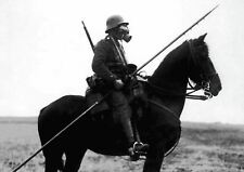 GAS MASK MOUNTED HORSE SPEAR SOLDIER POSTER PICTURE WALL ART PRINT A3 AMK2415