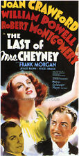 THE LAST OF MRS. CHEYNEY Movie POSTER 14x36 Insert Joan Crawford William Powell