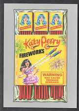 WACKY PACKAGES 50th ANNIV Topps 2017 SILVER CRAZY CELEBRITY Katy Perry (#39/50)