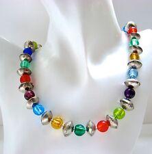 Handgefertigte Modeschmuck-Halsketten & -Anhänger im Collier-Stil aus Glas